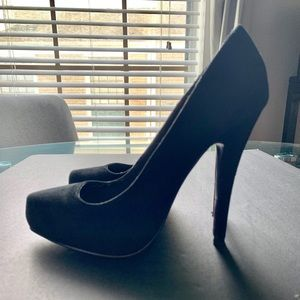 Black Shiekh Stilettos Platform Shoes Sz 5.5